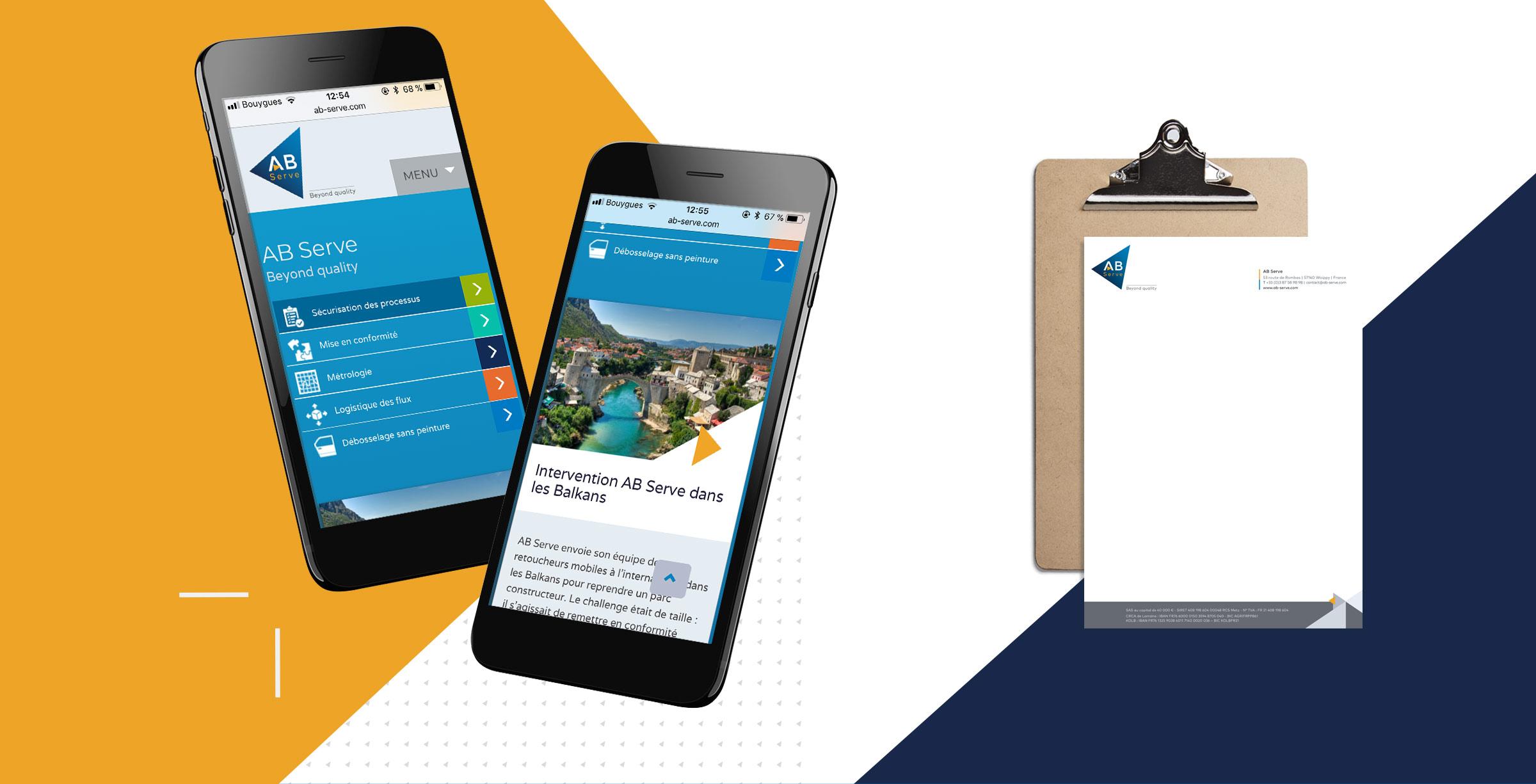 Création de site mobile et papier à en-tête