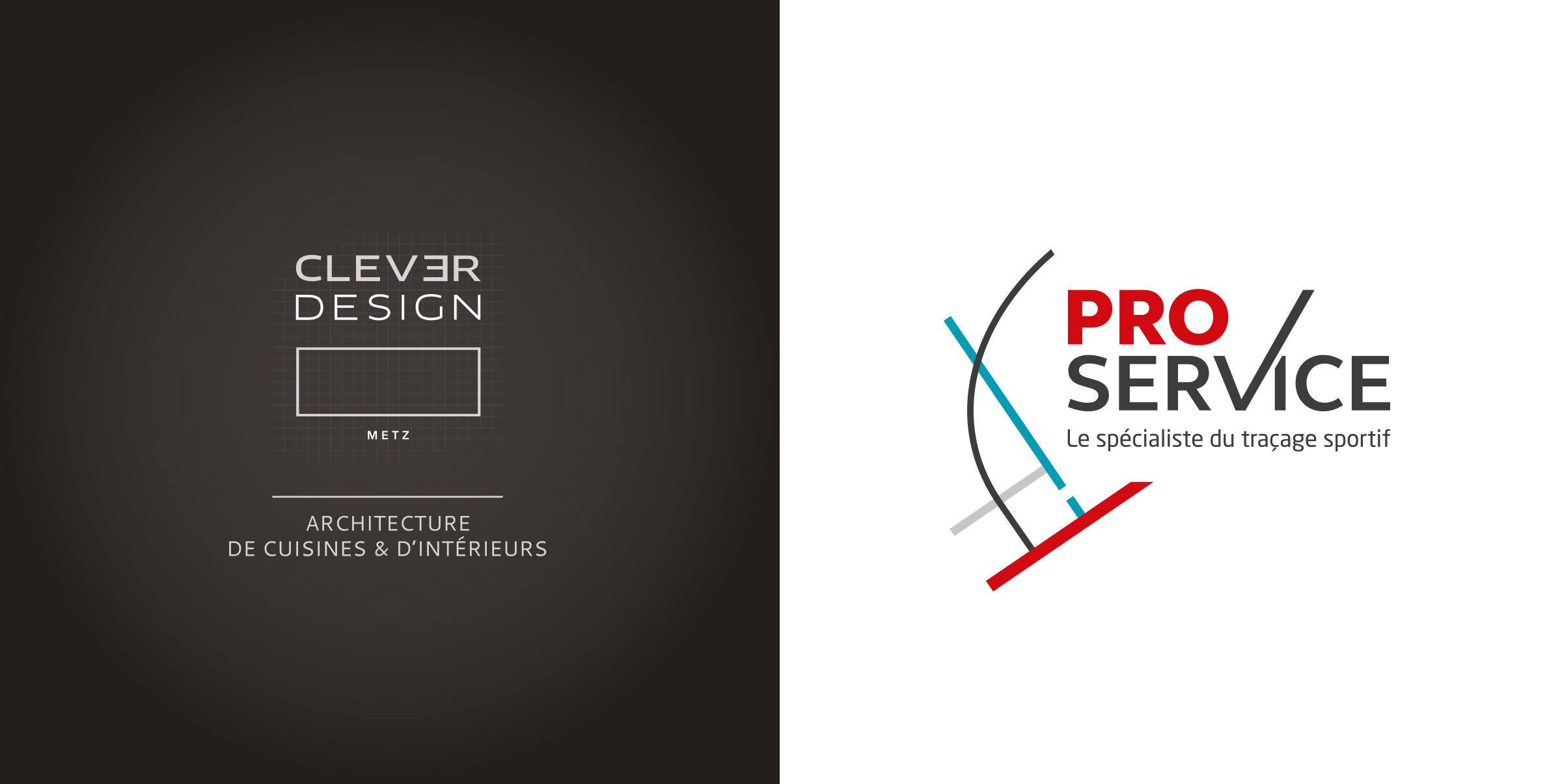 Création logos - Clever Design et Pro Service