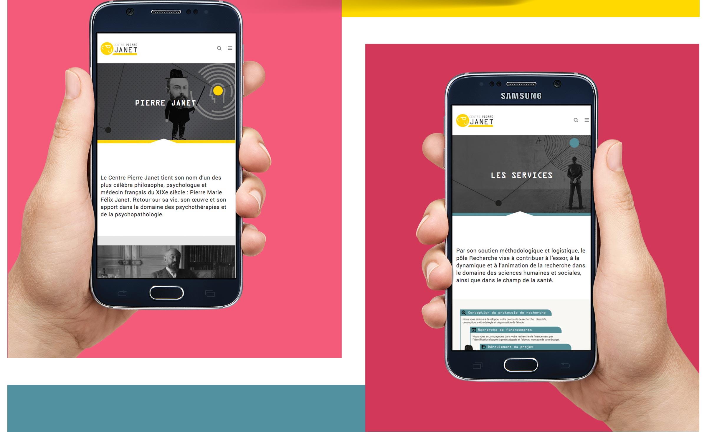 Création d'une site web - smartphone